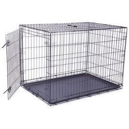 DOG FANTASY klec skládací XL černá 1 dveře - 106,5×76×71cm