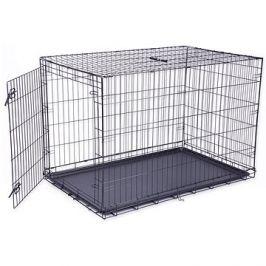 DOG FANTASY klec skládací XXL černá 1 dveře - 122×84×76cm