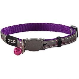ROGZ obojek NightCat purple budgies 1,1×20-31cm