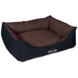SCRUFFS expedition box bed M 60×50cm čokoládový
