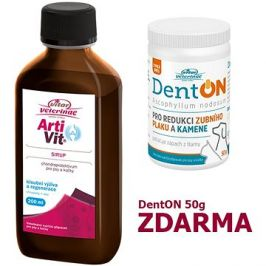 Vitar Veterinae Artivit sirup 200ml + Zdarma DentOn 50g