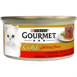 Gourmet gold Melting Heart - jemná paštika s omáčkou uvnitř, s hovězím 85g