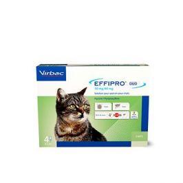 Effipro DUO Cat spot on pro kočky, 4 pipety