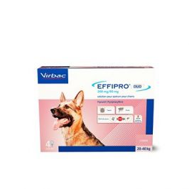 Effipro DUO L spot on pro psy 20-40kg ,4pipety