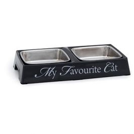 Pet Amour DBL My Favourite Cat dvojmiska šedá 2×200ml