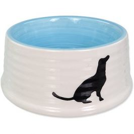 Dog Fantasy Miska DF keramická motiv pes bílo-modrá 440ml
