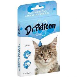 DR.Peticon Pipeta proti klíšťatům a blechám pro kočky 5 × 1 ml