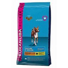 Eukanuba Dog Mature&Senior Medium  15kg + pelech (do vyprodání)