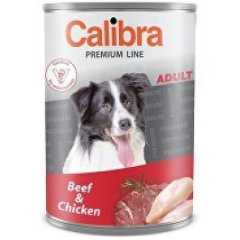 Calibra Dog  konz.Premium Adult hovězí+kuře 800g 5+1 zdarma (do vyprodání)