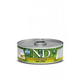N&D GF CAT PRIME Adult Boar & Apple 80g 1+1 zdarma ( do vyprodání)