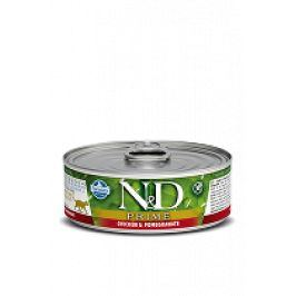 N&D GF CAT PRIME Adult Chicken & Pomegranate 80g 1+1 zdarma ( do vyprodání)