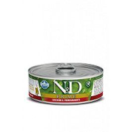 N&D GF CAT PRIME Kitten Chicken & Pomegranate 80g 1+1 zdarma ( do vyprodání)