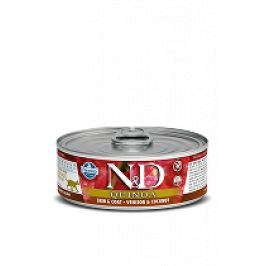 N&D GF CAT QUINOA Venison & Coconut 80g 5+1 zdarma ( do vyprodání)