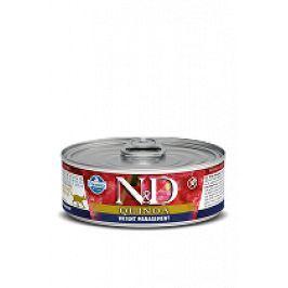 N&D GF CAT QUINOA Weight Management Lamb &Brocolli 80g 5+1 zdarma ( do vyprodání)