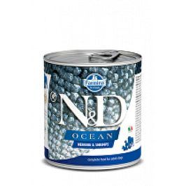 N&D DOG OCEAN Adult Herring & Shrimps 285g 1+1 zdarma ( do vyprodání)