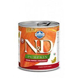 N&D DOG PUMPKIN Puppy Chicken & Pomegranate 285g 1+1 zdarma ( do vyprodání)