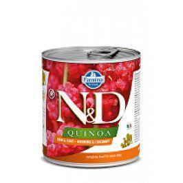 N&D DOG QUINOA Herring & Coconut 285g 1+1 zdarma ( do vyprodání)