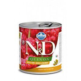 N&D DOG QUINOA Quail & Coconut 285g 1+1 zdarma ( do vyprodání)