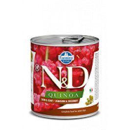 N&D DOG QUINOA Venison & Coconut 285g 1+1 zdarma ( do vyprodání)