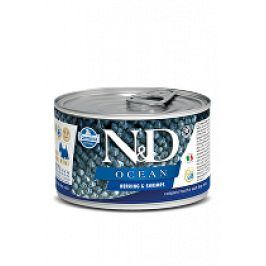 N&D DOG OCEAN Adult Herring & Shrimps Mini 140g 1+1 zdarma ( do vyprodání)