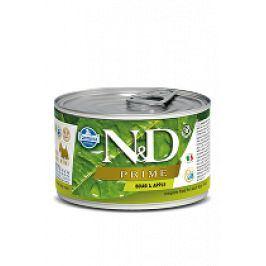 N&D DOG PRIME Adult Boar & Apple Mini 140g 1+1 zdarma ( do vyprodání)