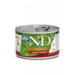 N&D DOG PRIME Puppy Chicken & Pomegranate Mini 140g 1+1 zdarma ( do vyprodání)