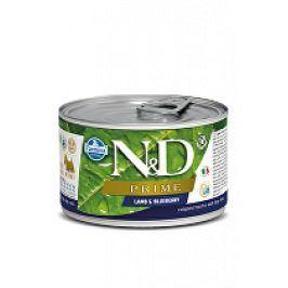 N&D DOG PRIME Adult Lamb & Blueberry Mini 140g 1+1 zdarma ( do vyprodání)