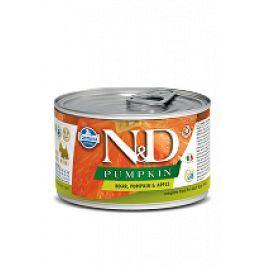 N&D DOG PUMPKIN Adult Boar & Apple Mini 140g 1+1 zdarma ( do vyprodání)
