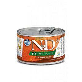 N&D DOG PUMPKIN Adult Venison & Pumpkin Mini 140g 1+1 zdarma ( do vyprodání)