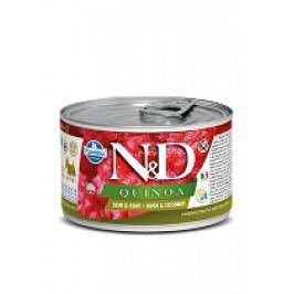 N&D DOG QUINOA Duck & Coconut Mini 140g 1+1 zdarma ( do vyprodání)