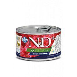 N&D DOG QUINOA Weight Mnmgmt Lamb & Brocolli Mini 140g 1+1 zdarma ( do vyprodání)