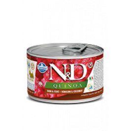 N&D DOG QUINOA Venison & Coconut Mini 140g 1+1 zdarma ( do vyprodání)