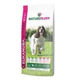 Eukanuba Dog Nature Plus+ Adult Med. froz Lamb 10kg + pelech (do vyprodání)