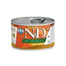 N&D DOG PUMPKIN Adult Quail & Pumpkin Mini 140g 1+1 zdarma ( do vyprodání) + taška zdarma, do vyprodání