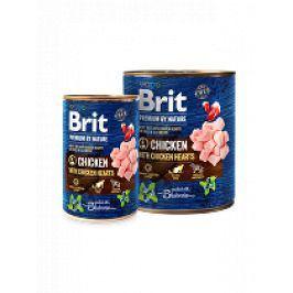 Brit Premium Dog by Nature  konz Chicken & Hearts 800g