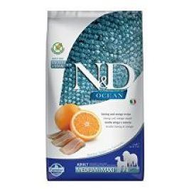 N&D OCEAN DOG GF Adult M/L Herring & Orange 2,5kg