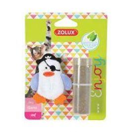 Hračka kočka PIRATE plnící+šanta bílá Zolux