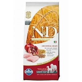 N&D Low Grain DOG Light Medium&Maxi Chicken&Pomeg 12kg + Doprava zdarma