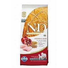 N&D Low Grain DOG Senior Med&Maxi Chicken&Pomegr 12kg + Doprava zdarma