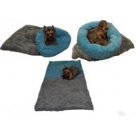 Spací pytel 3v1 de luxe pes,kočka č. 1 tm.šedá/modrá