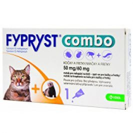 Fypryst combo spot-on 50/60mg kočka a fretka 1 pip 2+1 zdarma