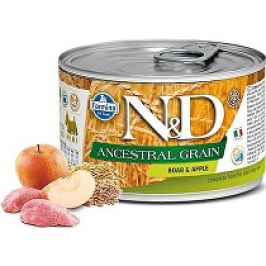 N&D DOG LOW GRAIN Adult Boar & Apple Mini 140g 1+1 zdarma ( do vyprodání)