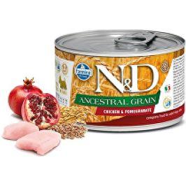 N&D DOG LOW GRAIN Adult Chicken &Pomegranate Mini 140g 1+1 zdarma ( do vyprodání)