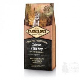 Carnilove Dog Salmon & Turkey for LB Puppies 12kg