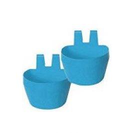 Miska na krmivo KRÁLÍK, závěsná 300ml plast, modrá 2ks