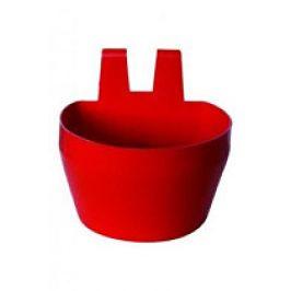 Miska na krmivo KRÁLÍK,závěsná 300ml plast,červená 2ks