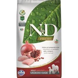 N&D PRIME DOG Adult M/L Chicken & Pomegranate 12kg + zásobník na krmivo zdarma (do vyprodání)