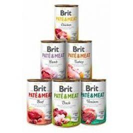 Brit Dog konz Paté & Meat Mix pack 6x400g