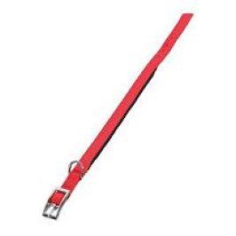 Obojek pes SOFT NYLON červený 20mm/45cm Zolux