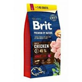 Brit Premium Dog by Nature Adult L 15kg + 3kg + Doprava zdarma